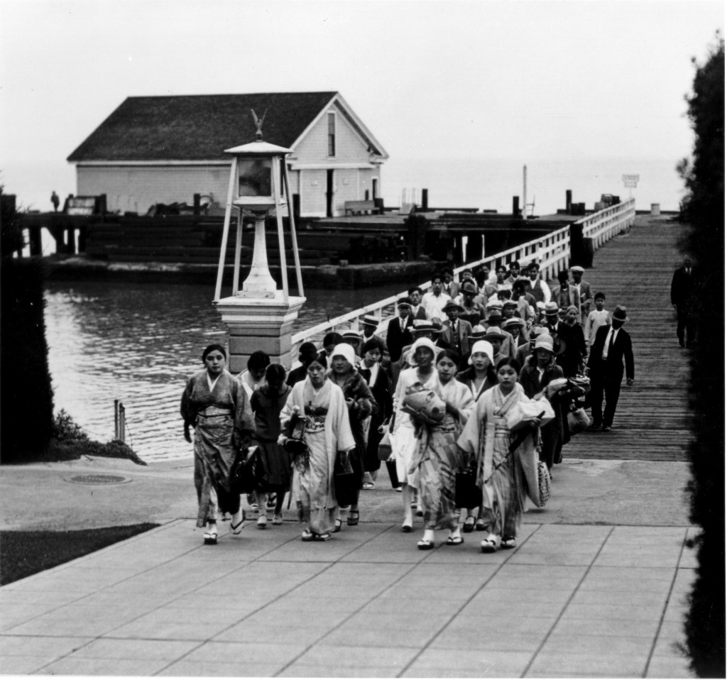 Immigrants arriving at Angel Island Immigration Station