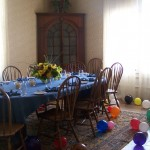 The classic and festively decorated dining room at Quarters 10.