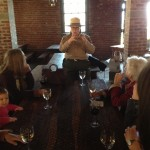 Amy Brees, Angel Island State Park Superintendent, sharing Quartermaster's Warehouse history.