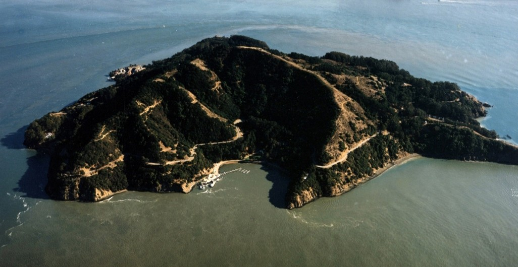 Aerial of Angel Island