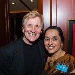 Emcee Doug McConnell and Sudha Pennathur - AIC Board of Directors