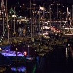 Boats in CYC's harbor lit for the season