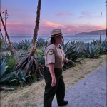 Always on duty, Angel Island's fearless leader inspected every detail.
