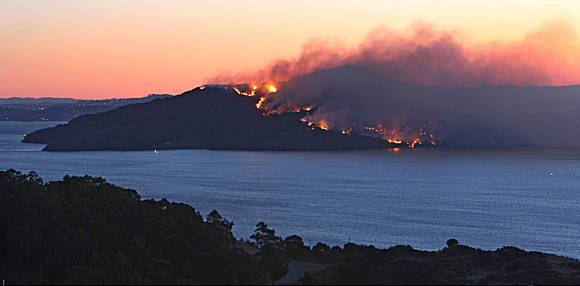 Angel Island 2008  Fire