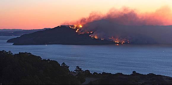 Angel Island 2008  Fire