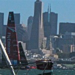 America's Cup in action