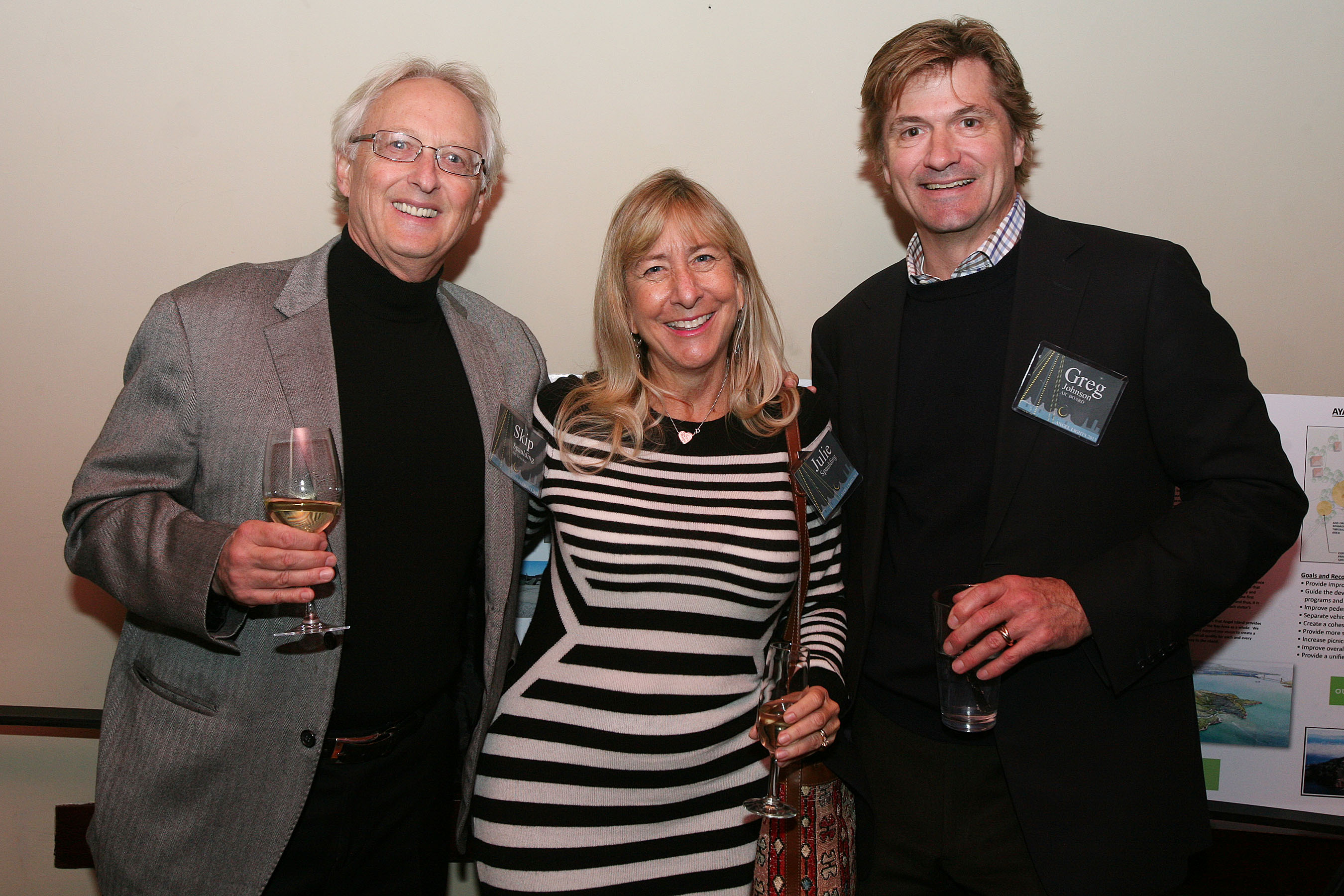 AIC Board Vice-President, Skip Spaulding, wife Julie and Greg Johnson - AIC 2014 Board President