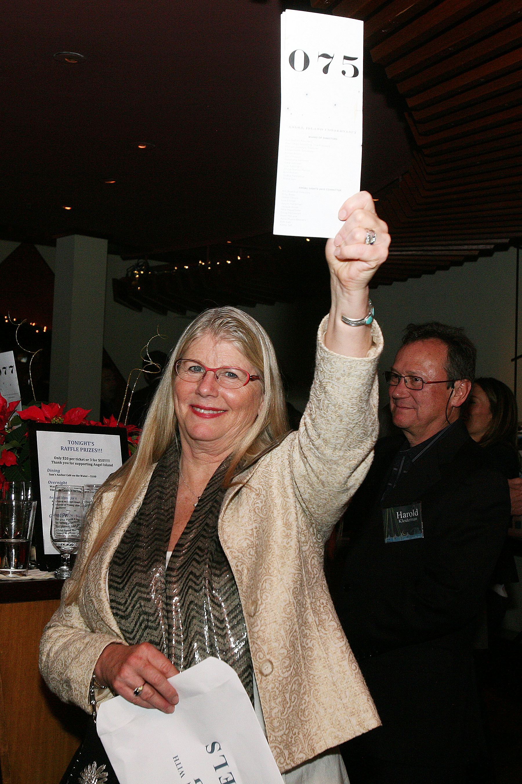 Auction winner Mary McLain