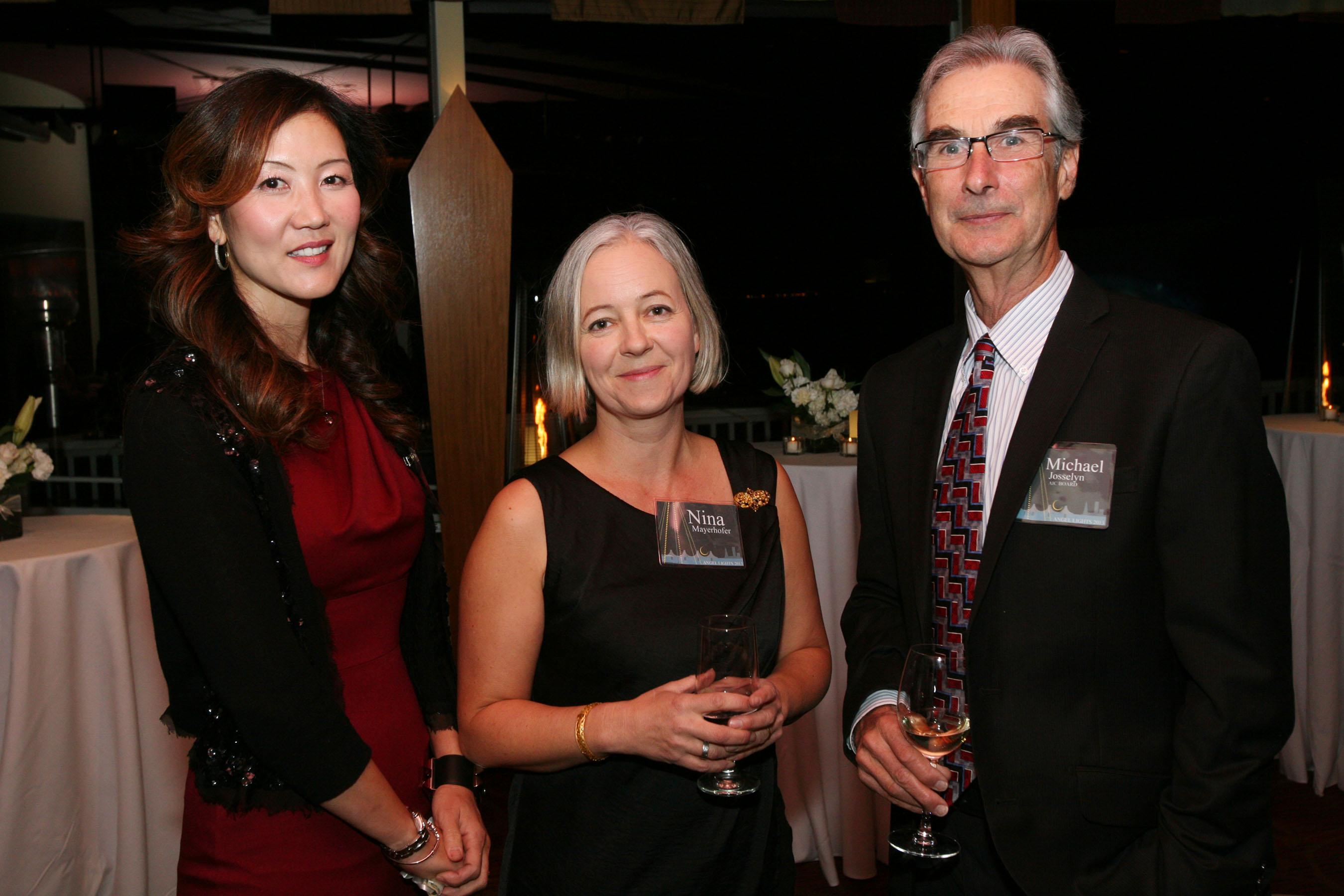 Grace Salk - AIC Board of Directors, Nina Mayerhofer Angel Lights Committee Member and Mike Jossellyn - AIC Board Treasurer