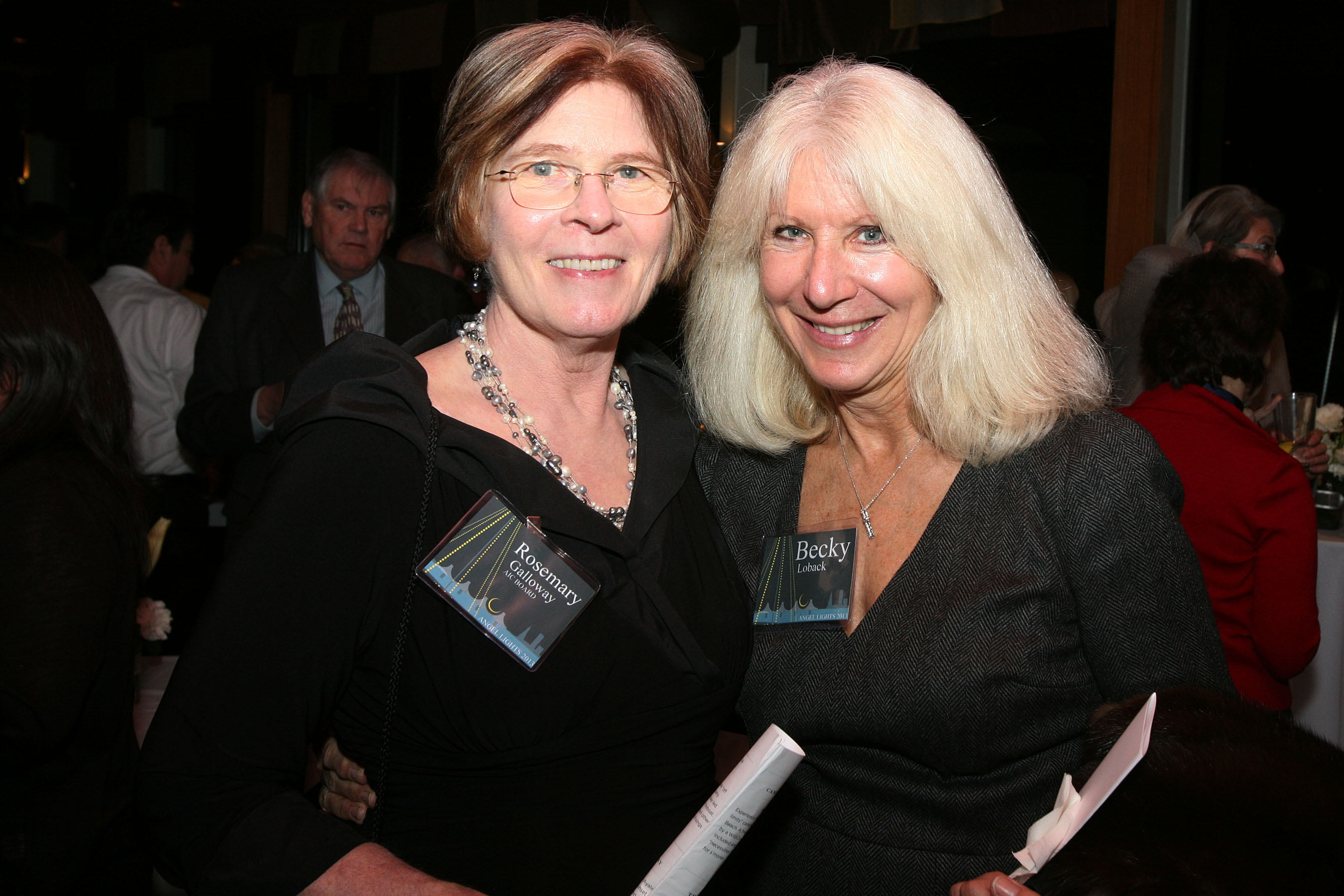 Rosemary Galloway - AIC Board of Directors and Becky Loback