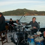 Tommy Igoe Sextet taking center stage of the upper deck with Angel Island as the backdrop