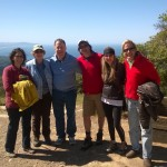 The group ready for the hike - Mary Donathan, Rosemary Galloway, Tyler Hofinga, Rip & Audrey Gerber, and Doug McConnell